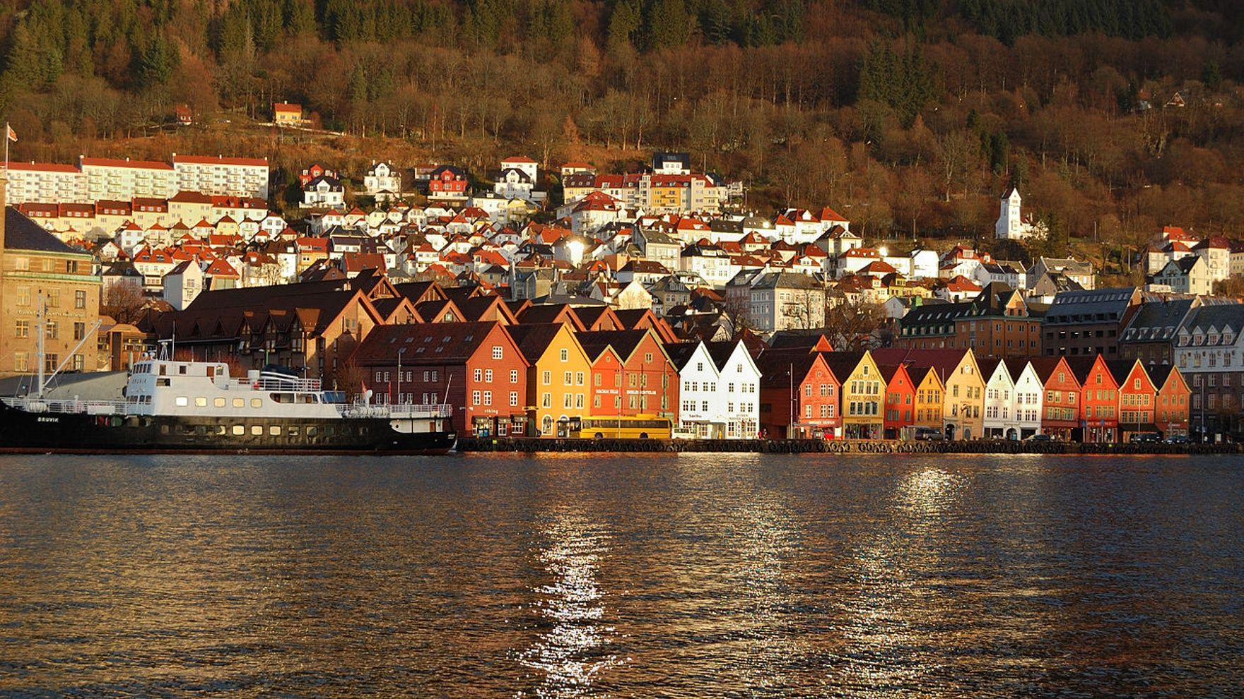 Bergen. Traveling through the Hardangerfjord