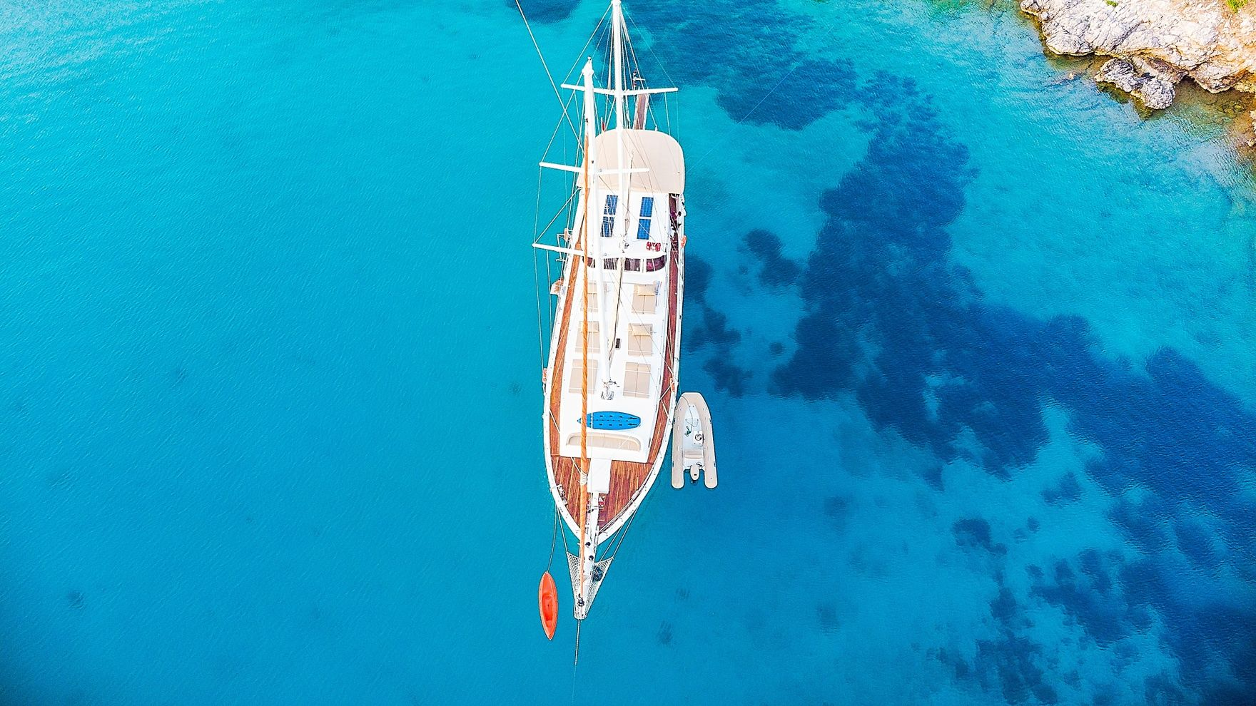 Day sailing in Bodrum on a gullet