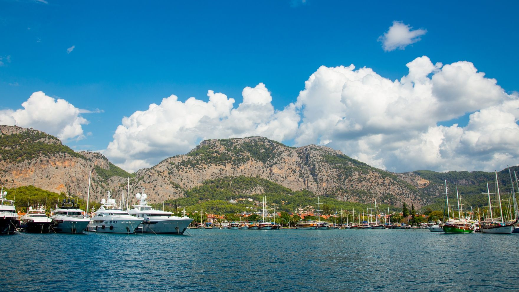 Day sailing in Marmaris, Turkey