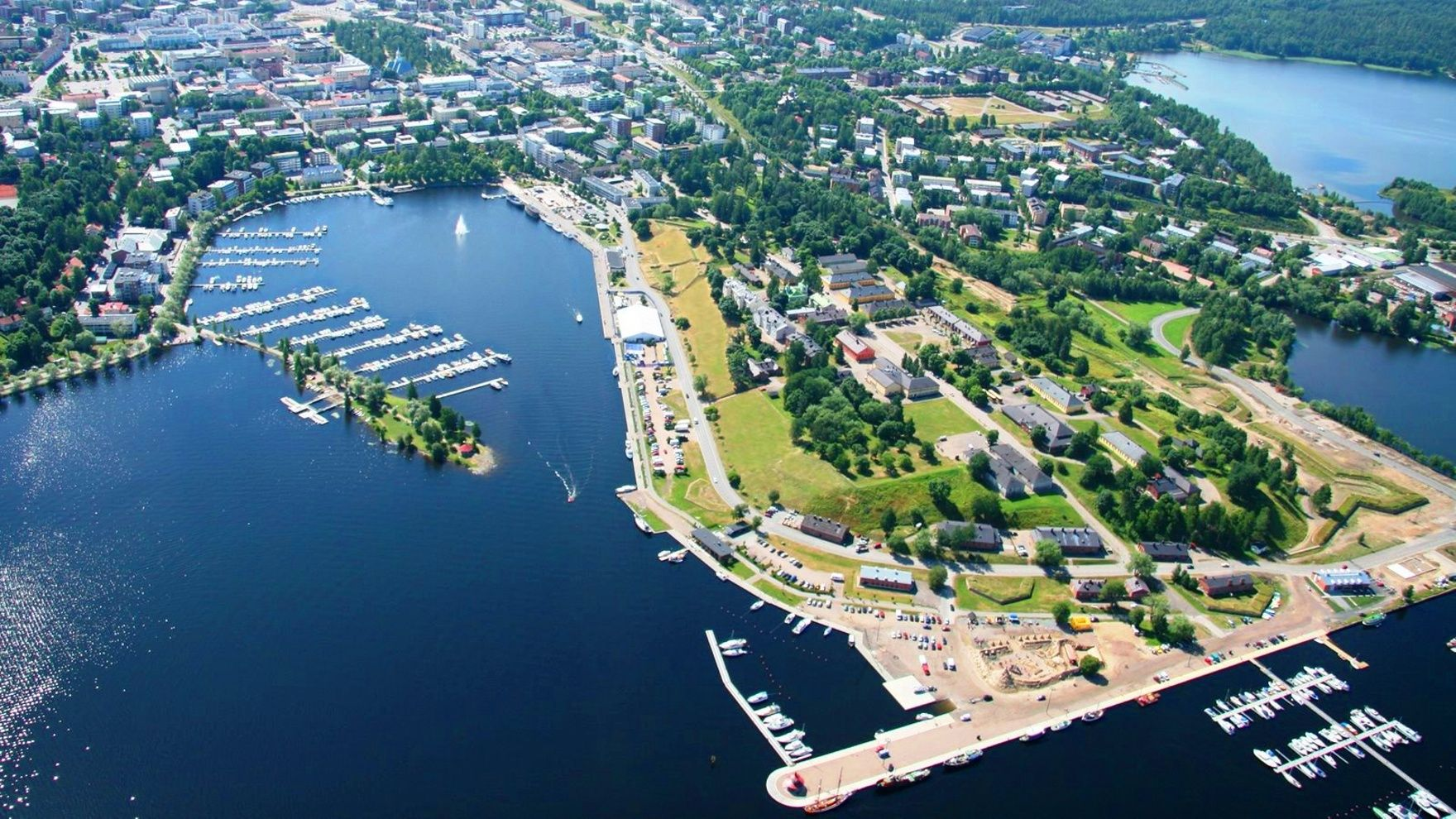 Mile building: Saimaa lakes