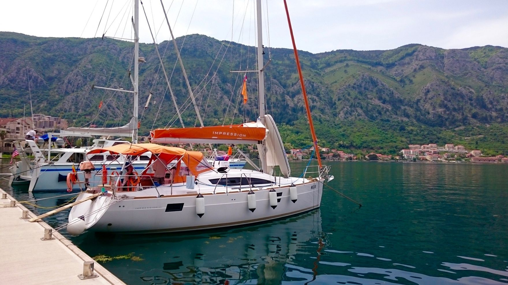 "A vacation on a sailing yacht ""Orange"" in Montenegro"