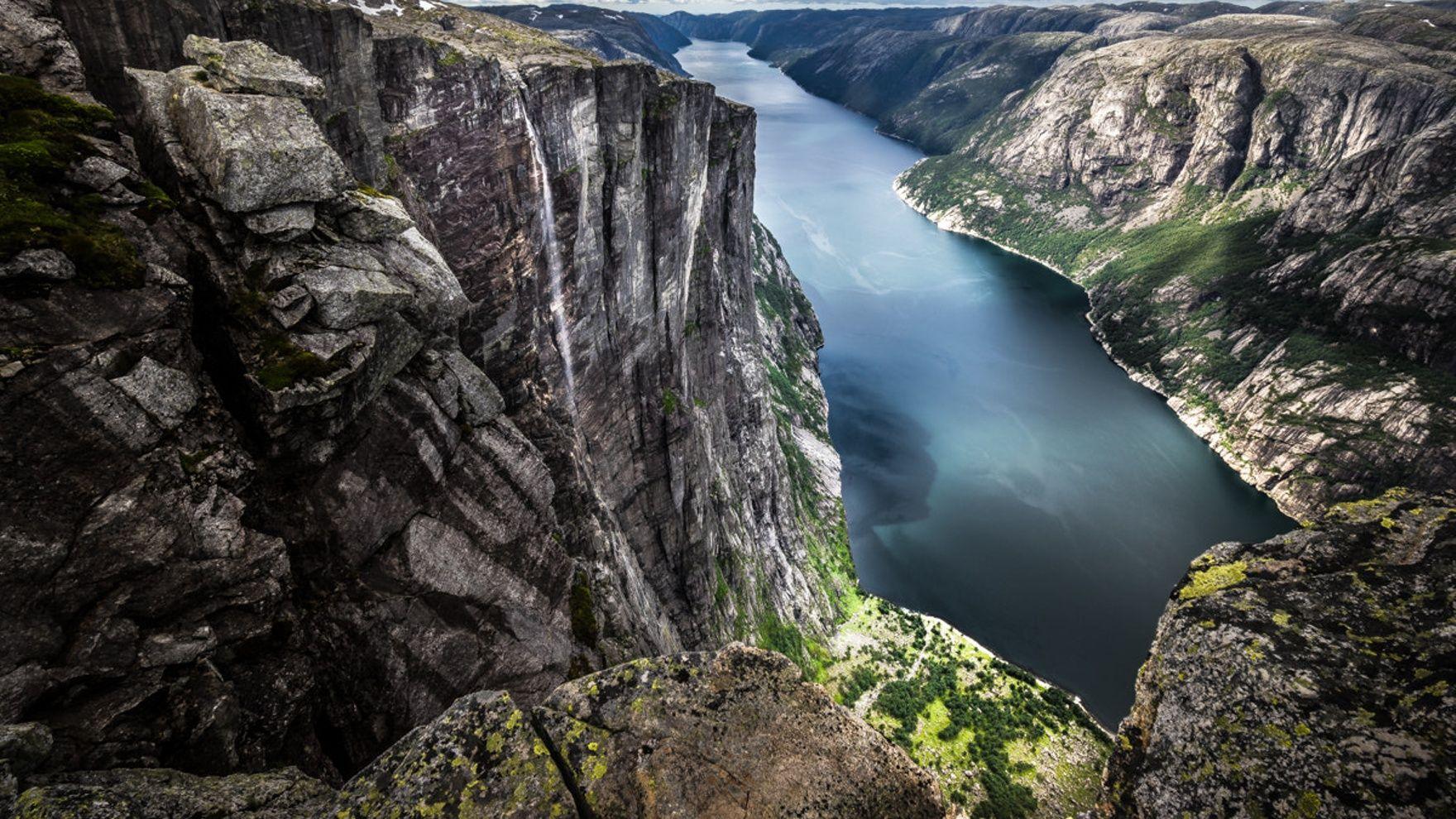 Stavanger. Traveling in the Lysefjord