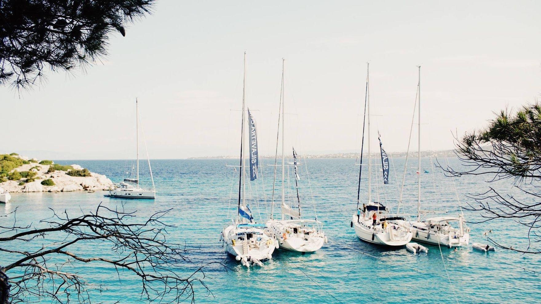 Training regatta in Greece